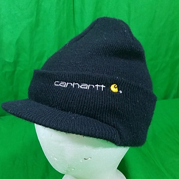 22ae19b7 Carhartt Accessories | Winter Knit Beanie W Bill Hat Skull Cap ...